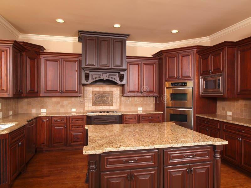 Console Home luxuoso do centro dianteiro da cozinha imagem de stock royalty free