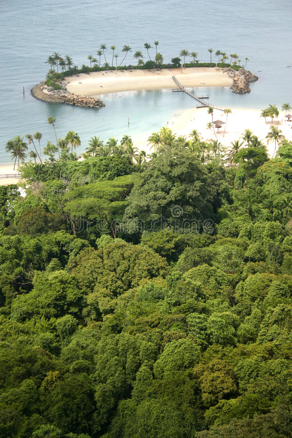 Console isolado nos tropics fotografia de stock