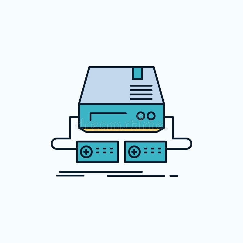 Console, jogo, jogo, almofada, ícone liso da movimentação sinal e s?mbolos verdes e amarelos para o Web site e o appliation m?vel ilustração do vetor