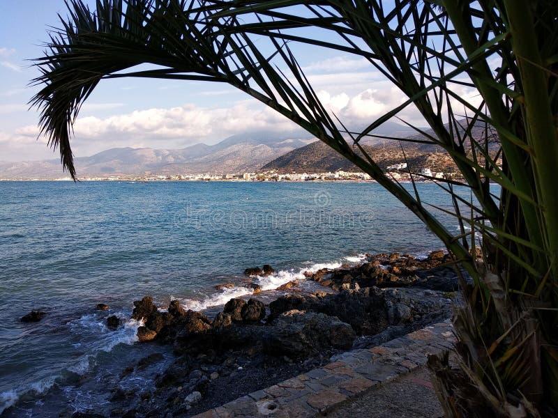 Console mediterrâneo recolhido fotografia Córsega foto de stock