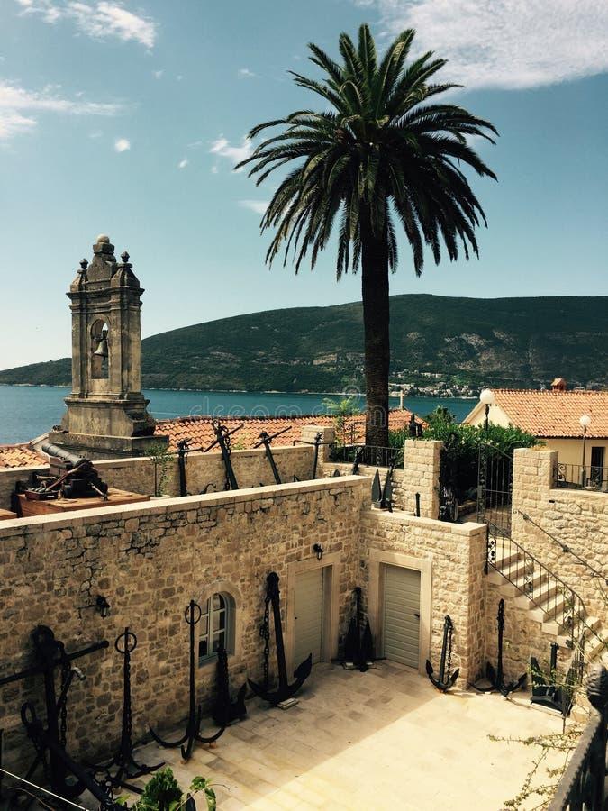 Console mediterrâneo recolhido fotografia Córsega imagem de stock