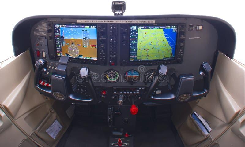 Console moderno do avião pequeno   fotografia de stock royalty free