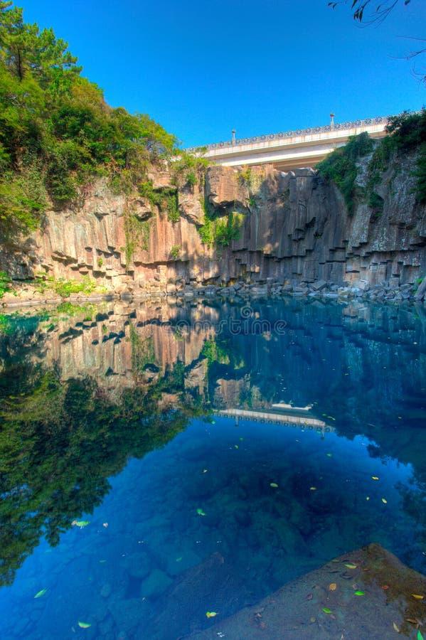 Console vulcânico de Jeju, Coreia fotografia de stock royalty free