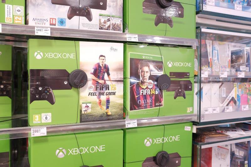 Consoles de jeu de Xbox un photo libre de droits