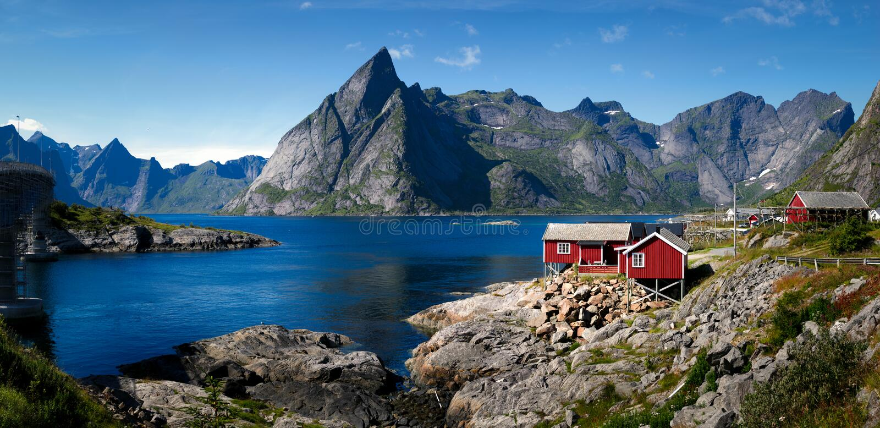 Consoles de Lofoten, Noruega fotografia de stock royalty free