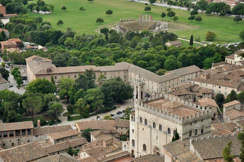 Consoli e teatro do palazzo de Gubbio fotografia de stock royalty free