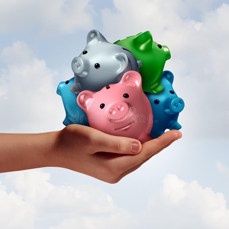 Consolidação de débito ilustração royalty free