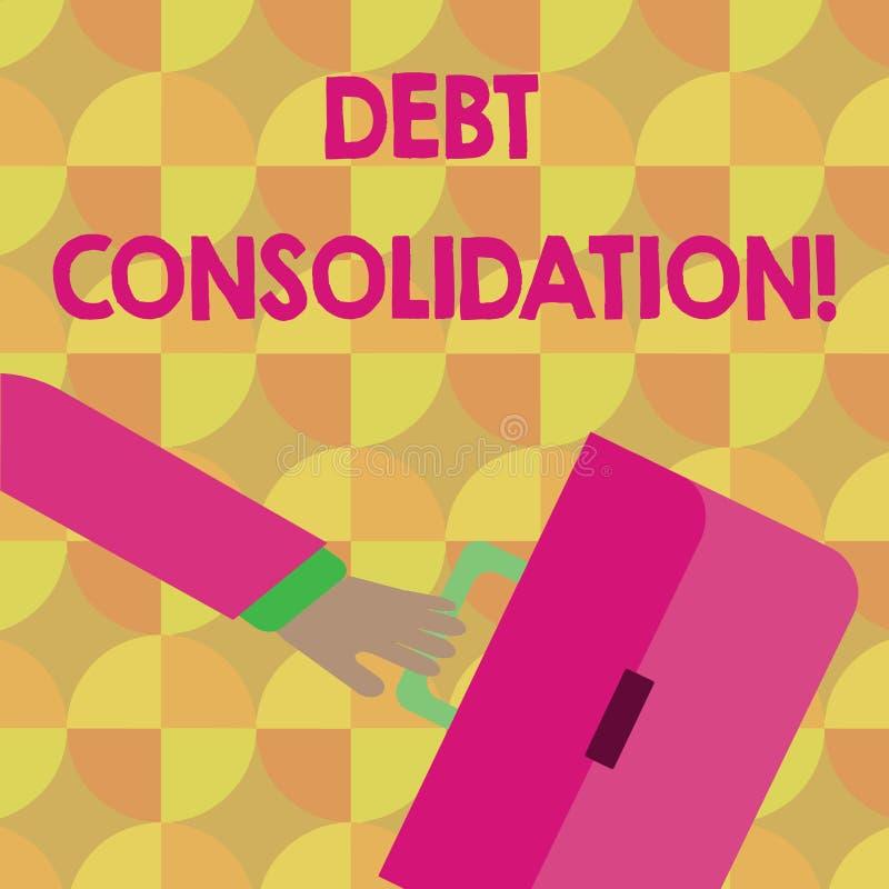 Consolidación de deuda del texto de la escritura El significado del concepto exige el sacar de un préstamo paga apagado otros ana libre illustration