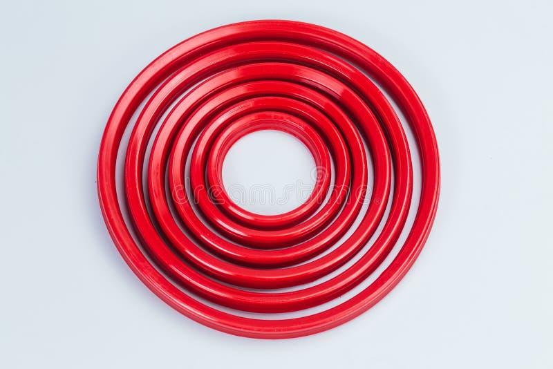 consolidamento Cilindro idraulico Guarnizioni, anelli sigillanti Tergicristalli, anelli della guida, anelli protettivi poliuretan immagine stock libera da diritti