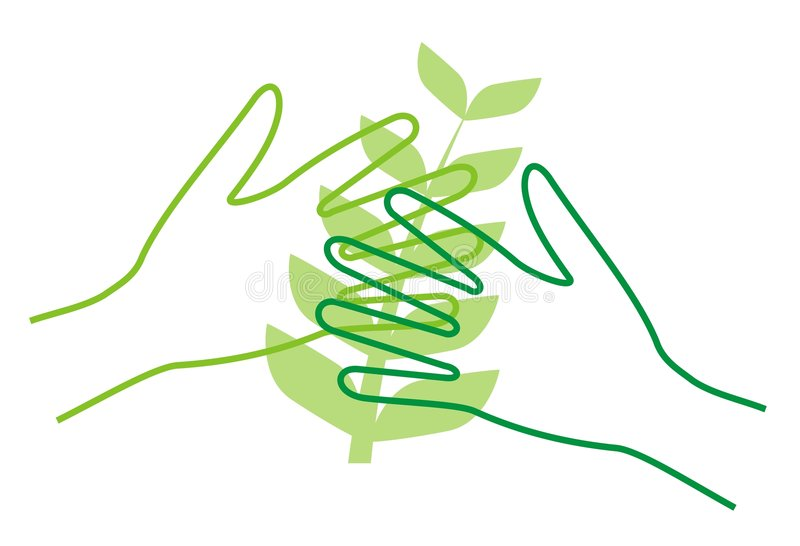 Consolidando plantas ilustração royalty free