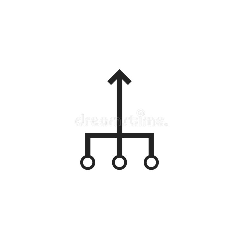 Consolidation icon sign royalty free illustration