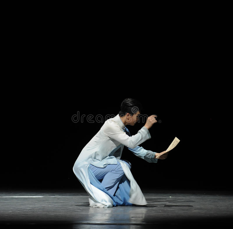Consolidation music score-The prelude of dance drama-Shawan events of the past. Guangdong Shawan Town is the hometown of ballet music, the past focuses on the royalty free stock images