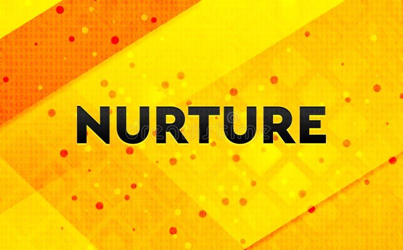 Consolidez le fond jaune de bannière numérique abstraite illustration libre de droits