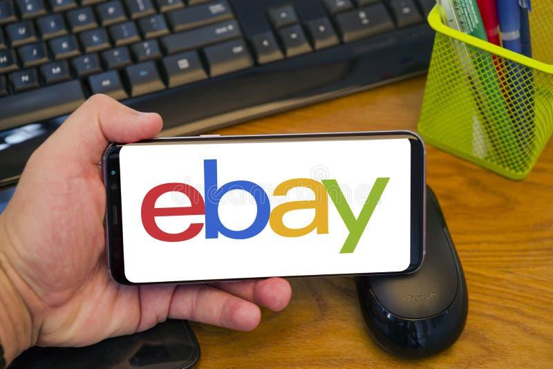 Consommateur au logo d'Ebay du consommateur photographie stock libre de droits