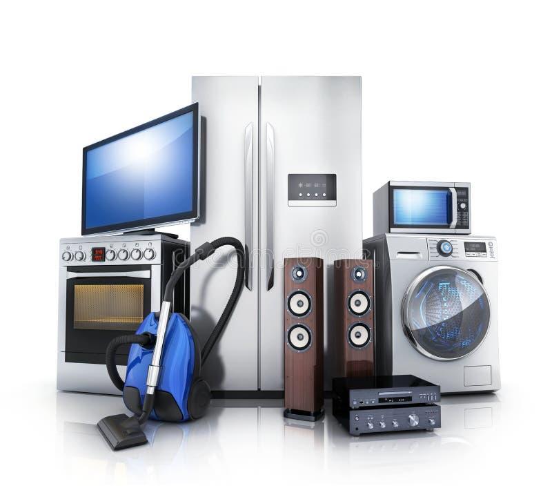 Consommateur et électronique domestique illustration stock