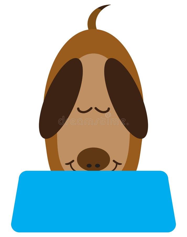 Consommation plate de chien de bande dessinée de vecteur illustration libre de droits