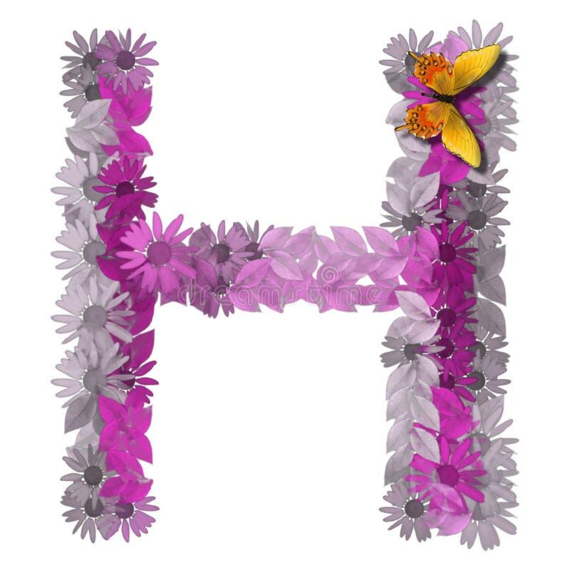 Consonante H della lettera alfabetica illustrazione vettoriale