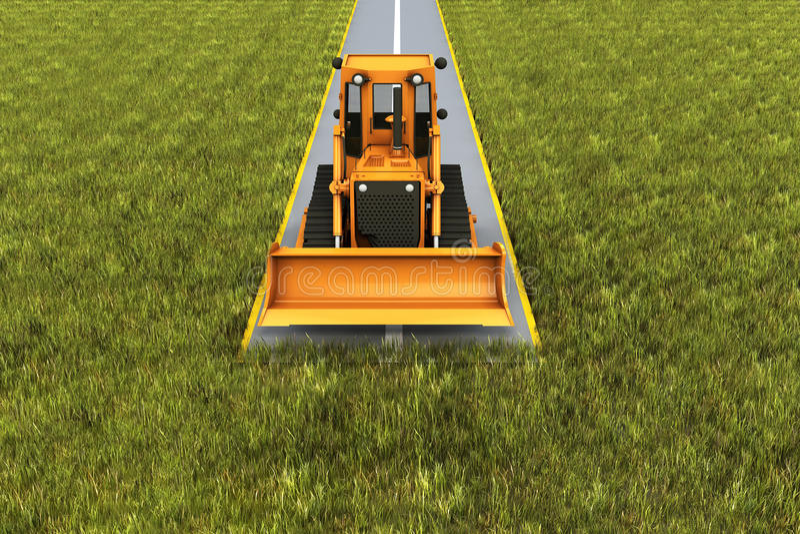 Consrtuction della strada illustrazione vettoriale