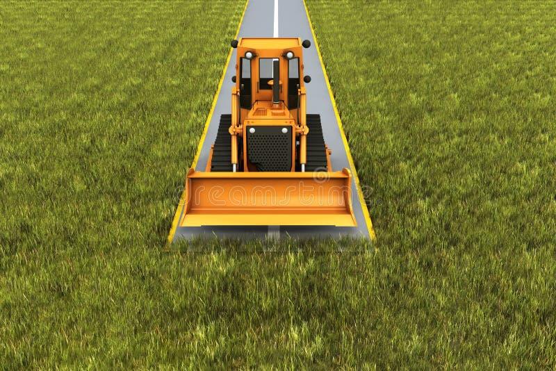 Consrtuction van de weg vector illustratie
