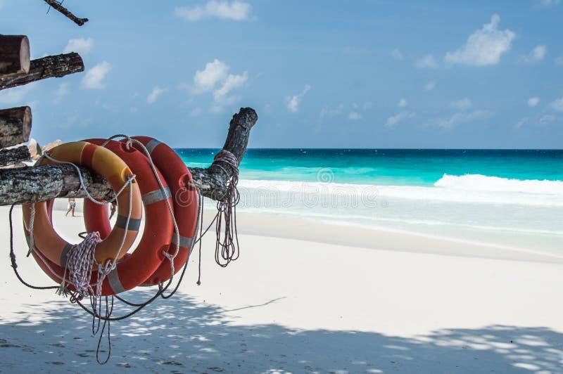 Constance Lemuria海滩,塞舌尔群岛 免版税库存图片