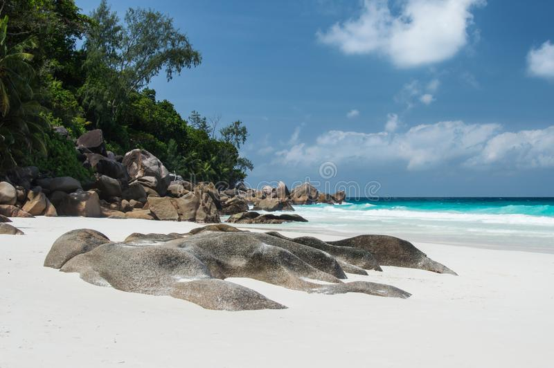 Constance Lemuria Beach, Seychelles images stock