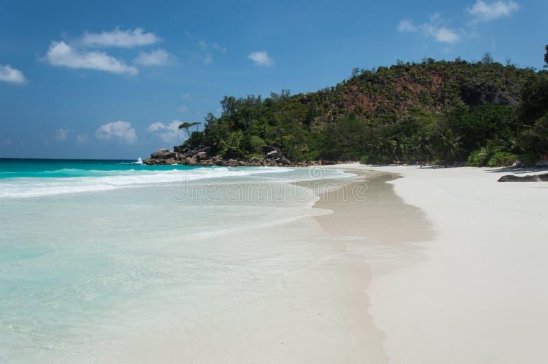 Constance Lemuria plaża, Seychelles zdjęcia royalty free