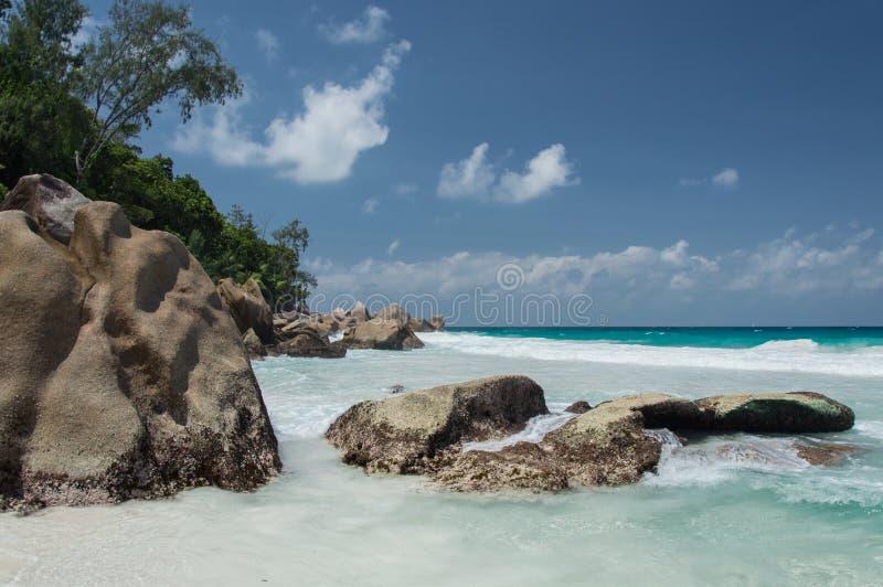 Constance Lemuria plaża, Seychelles zdjęcie royalty free