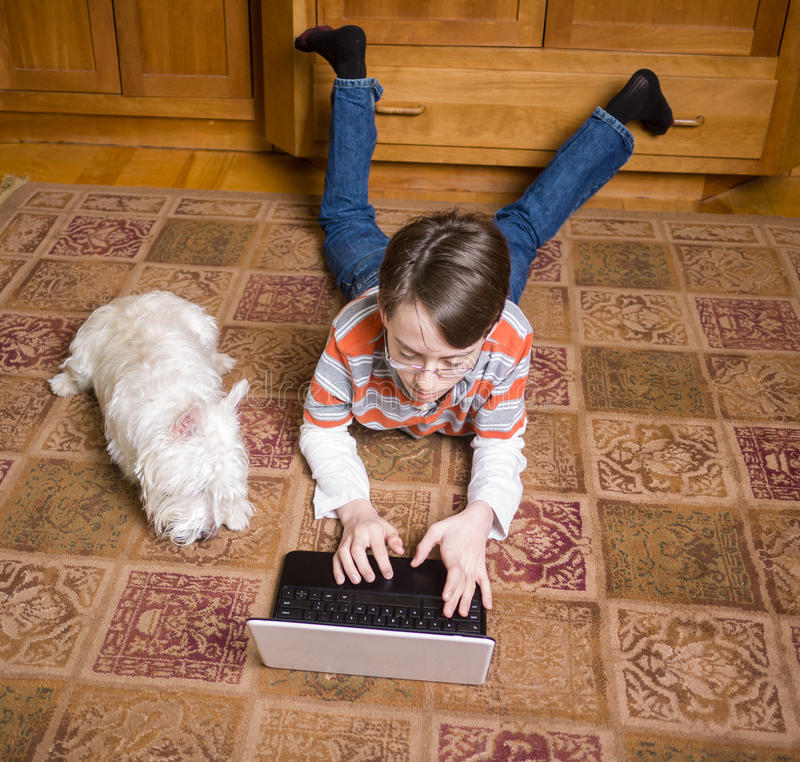 Download Constant Companions - A Boy And His Dog Stock Photo - Image of west, friends: 24056606
