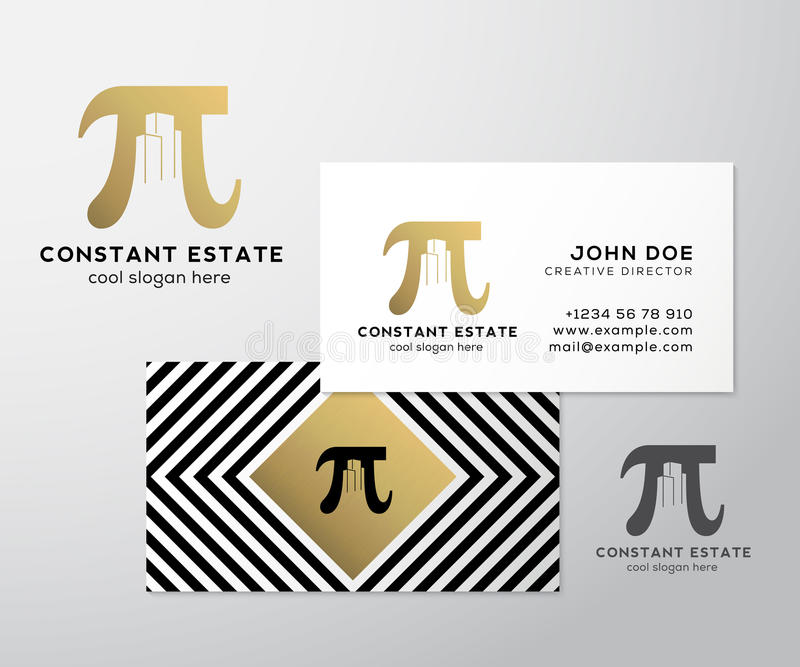 Constant Estate Abstract Vector Premium Business Card Template. Pi ...