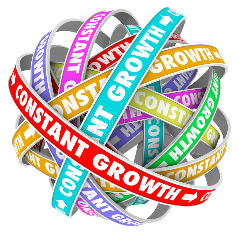Constant Growth Learning Improvement Always allant mieux illustration stock