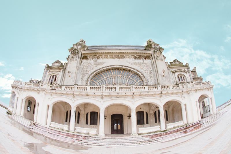 Constanta Casino. The old dilapidated Constanta Casino, an Art Nouveau style landmark built in 1909 (Cazinoul din ConstanÈ›a) by the shore of the Black Sea in