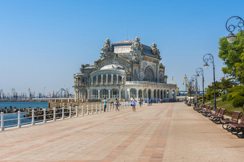 Constanta Casino, Romania. The Casino - built in 1909 was inaugurated in August 1910; the designs were made by the French architect Daniel Renard (first design stock images