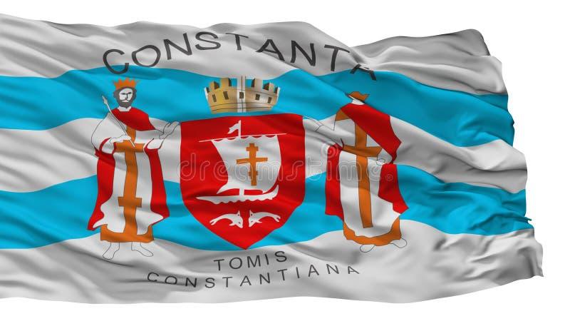 Constanta miasta flaga, Rumunia, Odizolowywający Na Białym tle royalty ilustracja