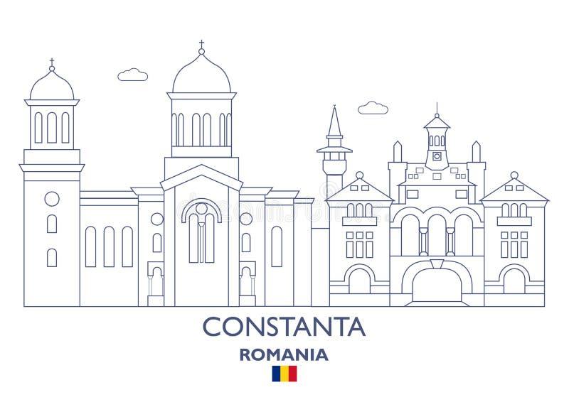 Constanta miasta linia horyzontu, Rumunia ilustracji