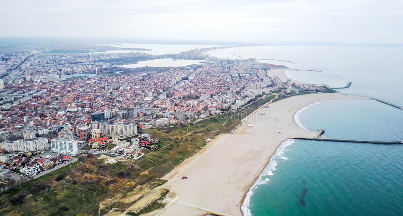 Constanta, Roumanie, vue aérienne image stock
