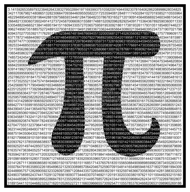 Constante matemática do pi ilustração stock