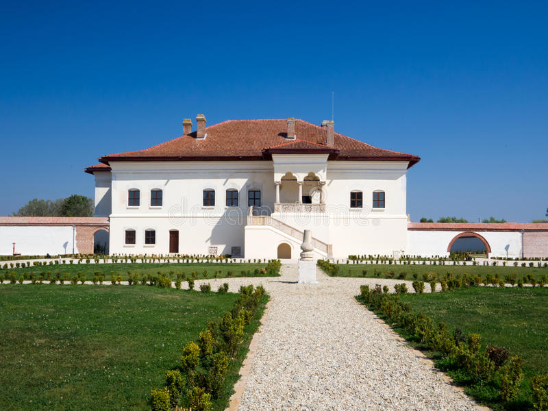 Constantin Brancoveanu`s palace in Potlogi. Built in 1698, this is the first palace of Constantin Brancoveanu, Prince of Wallachia 1688–1714 royalty free stock image