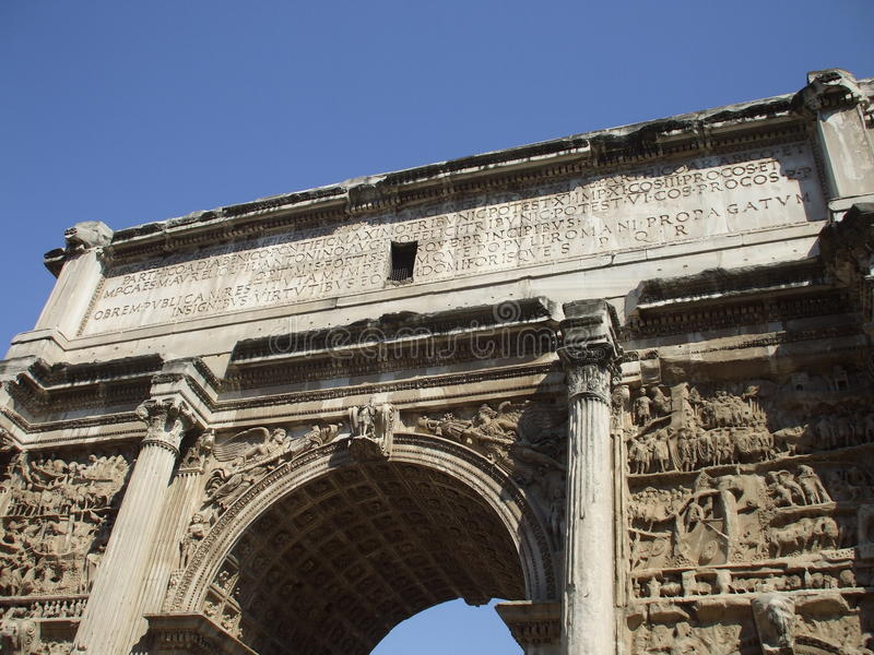 Constantin gate in rome. Front view royalty free stock photos