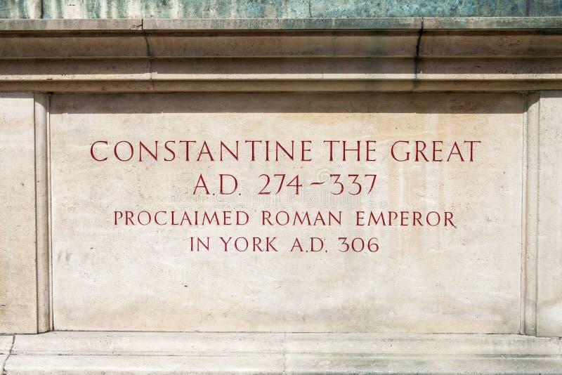 Constantina la gran estatua en York fotos de archivo