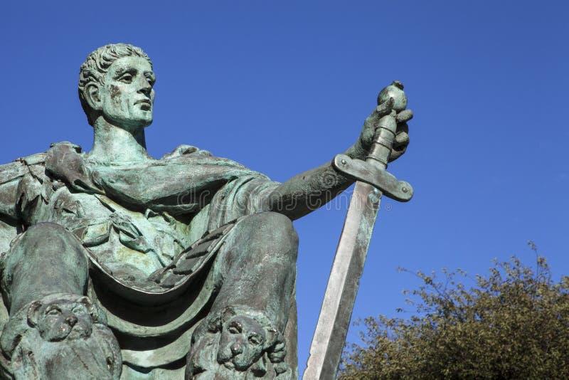 Constantina la gran estatua en York imagen de archivo libre de regalías