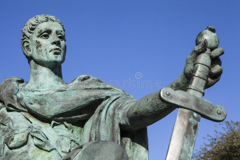 Constantina la gran estatua en York fotos de archivo libres de regalías