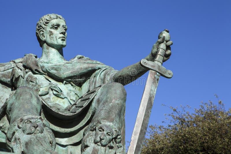 Constantina la gran estatua en York imagen de archivo