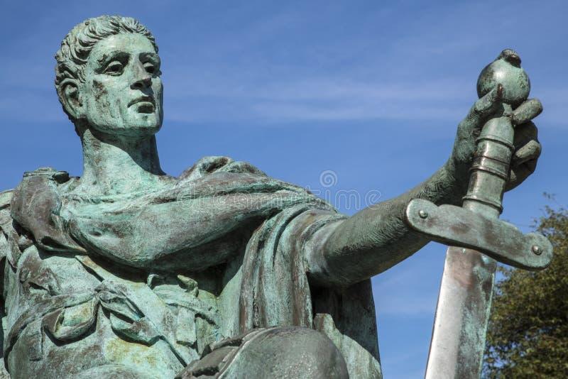 Constantina la gran estatua en York fotografía de archivo libre de regalías