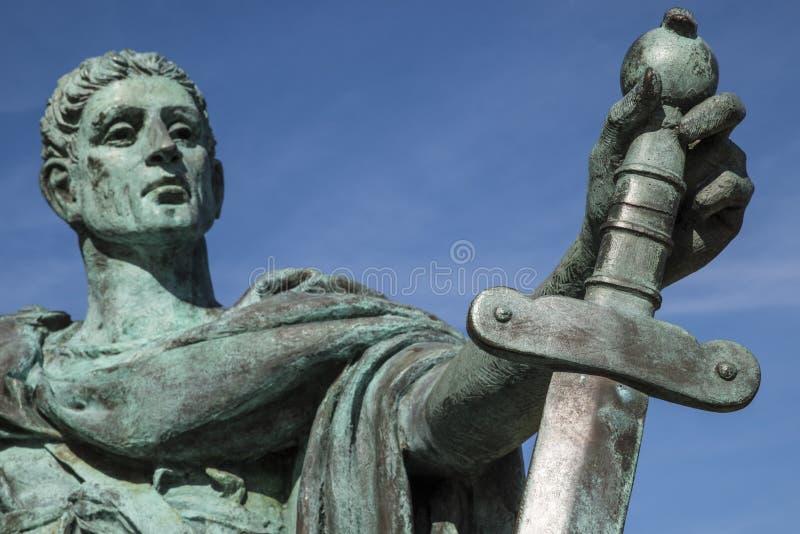 Constantina la gran estatua en York fotografía de archivo
