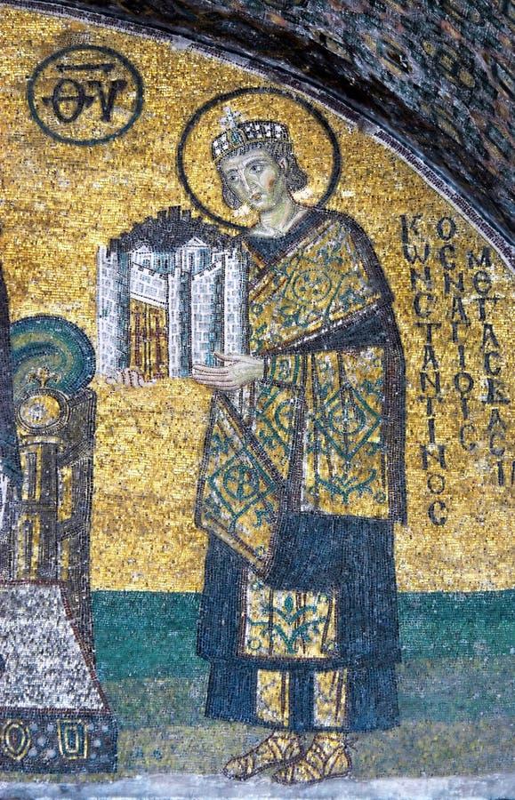 constantine cesarza mozaika obrazy royalty free