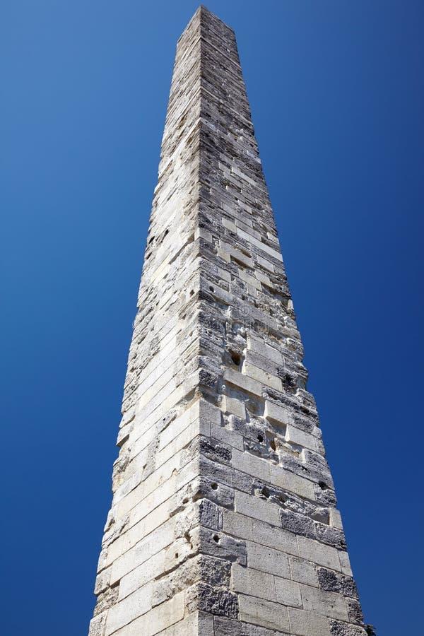 Constantine Obelisk (l'obélisque muré) sur Sultan Ahmet photo stock