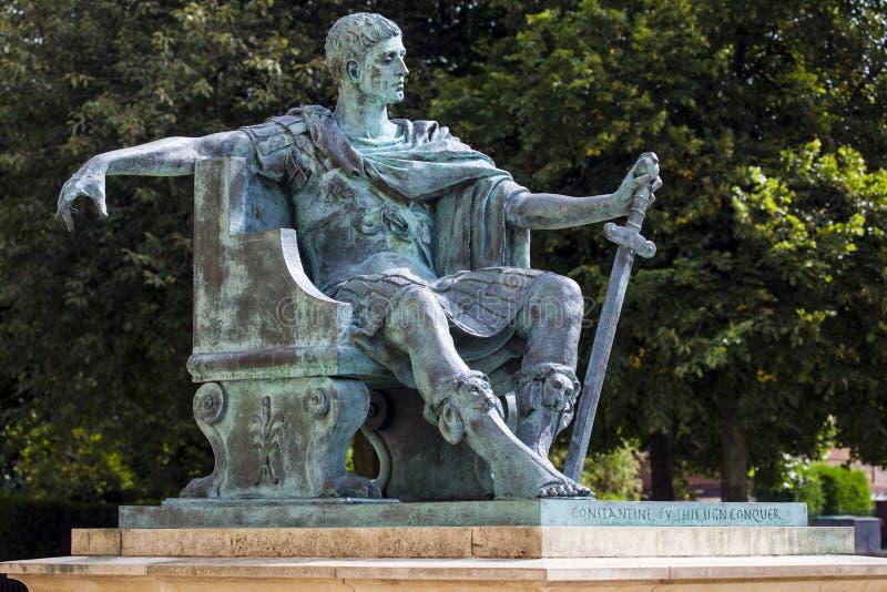 Constantine Statue à York photographie stock libre de droits