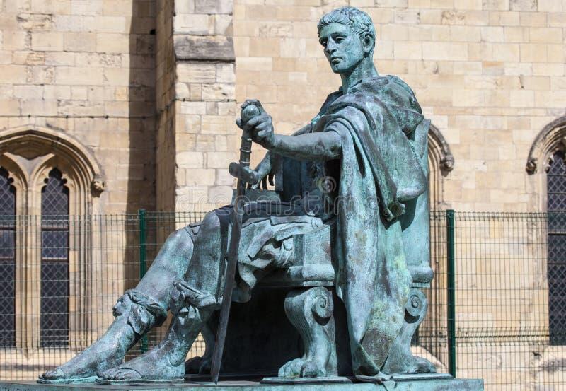 Constantine Statue en York fotografía de archivo libre de regalías