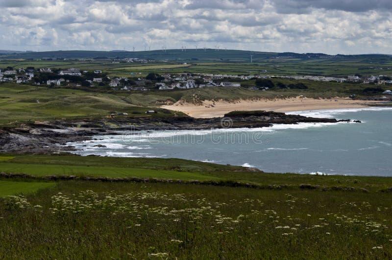 Constantine zatoka Cornwall zdjęcie royalty free