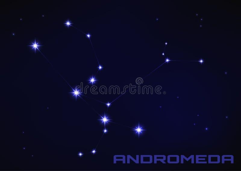 Constelação da estrela do Andromeda ilustração do vetor